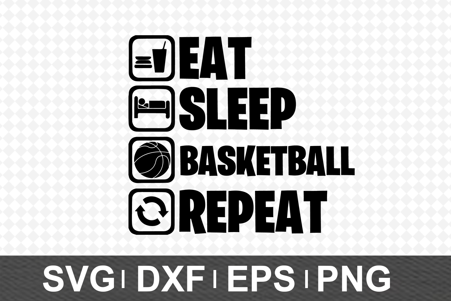 Eat Sleep SVG Bundle example image 4