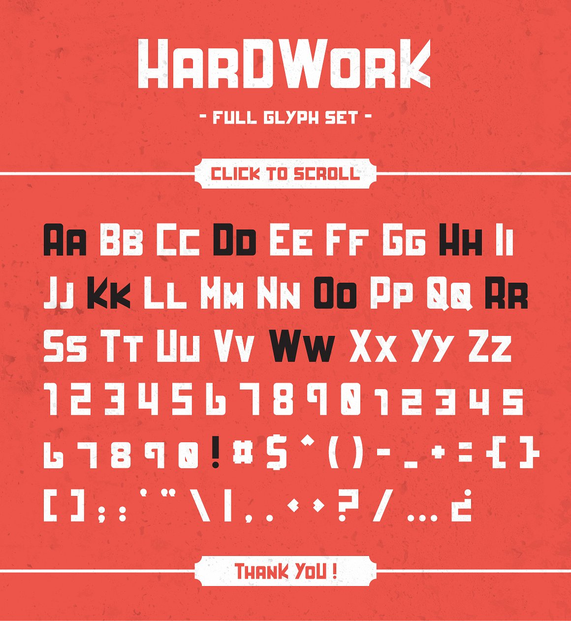 HardWork - Display Font With Styles / Font Logo example image 12