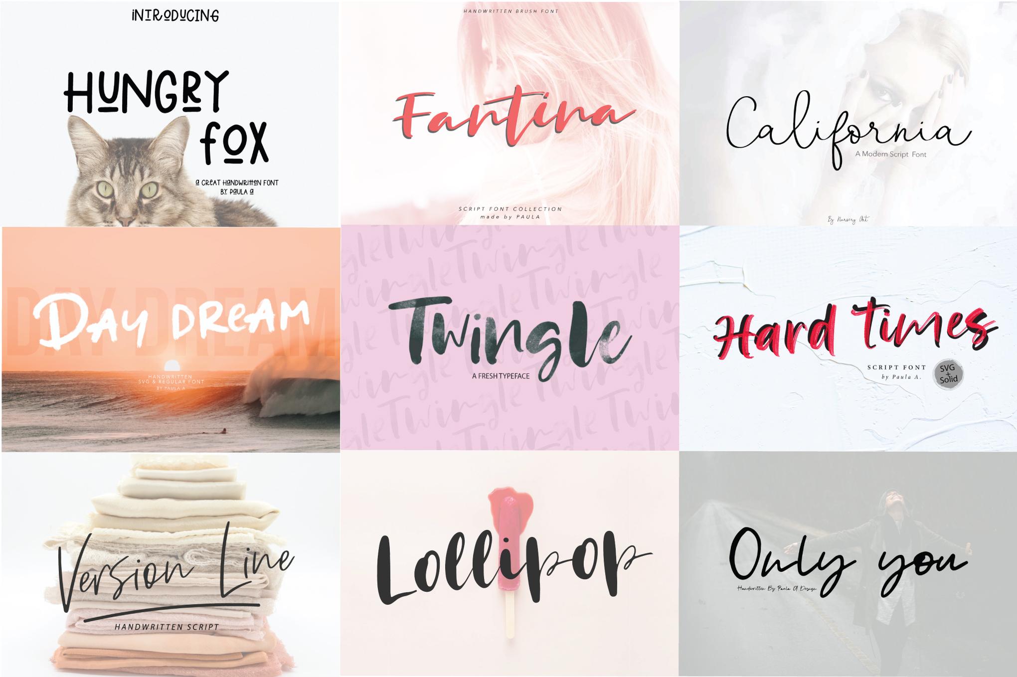119 Handwritten Font Bundle example image 3