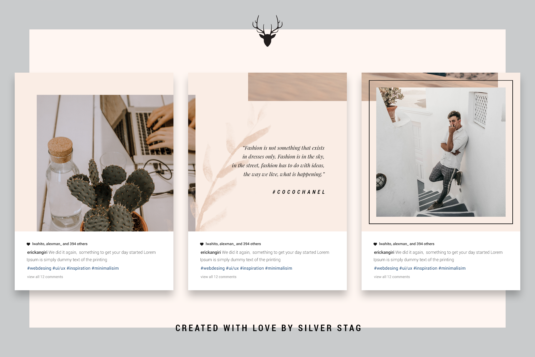 InstaGrid 5.0 - Creative & Modern Instagram Puzzle Template example image 8