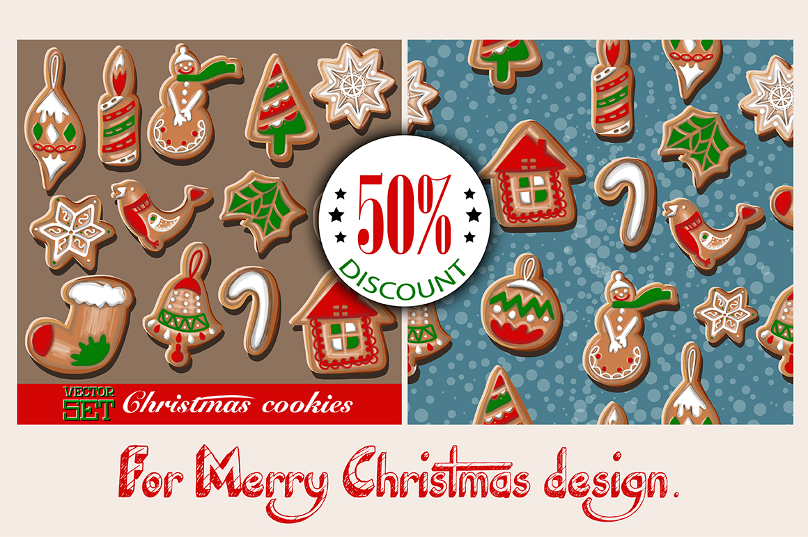 Christmas cookies set. example image 1