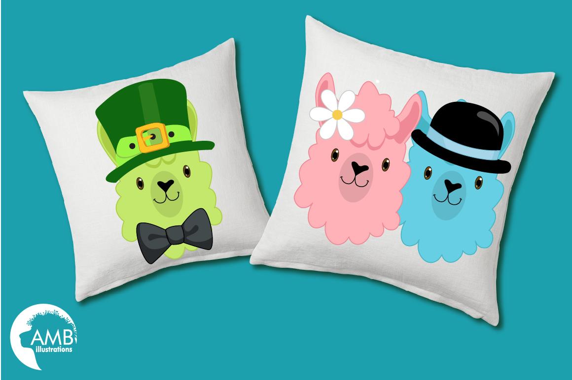 Create your own LLama, DIY Llama Funny Faces clipart, graphics, illustrations, AMB-2376 example image 3