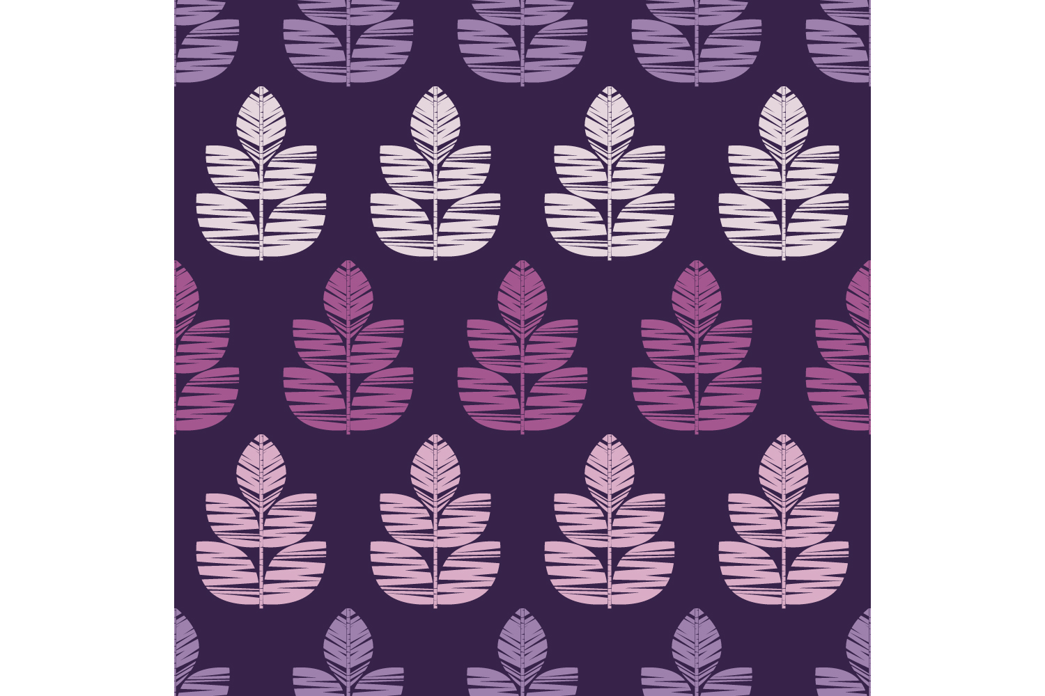Decorative leaves. Set of 10 seamless patterns. example image 7