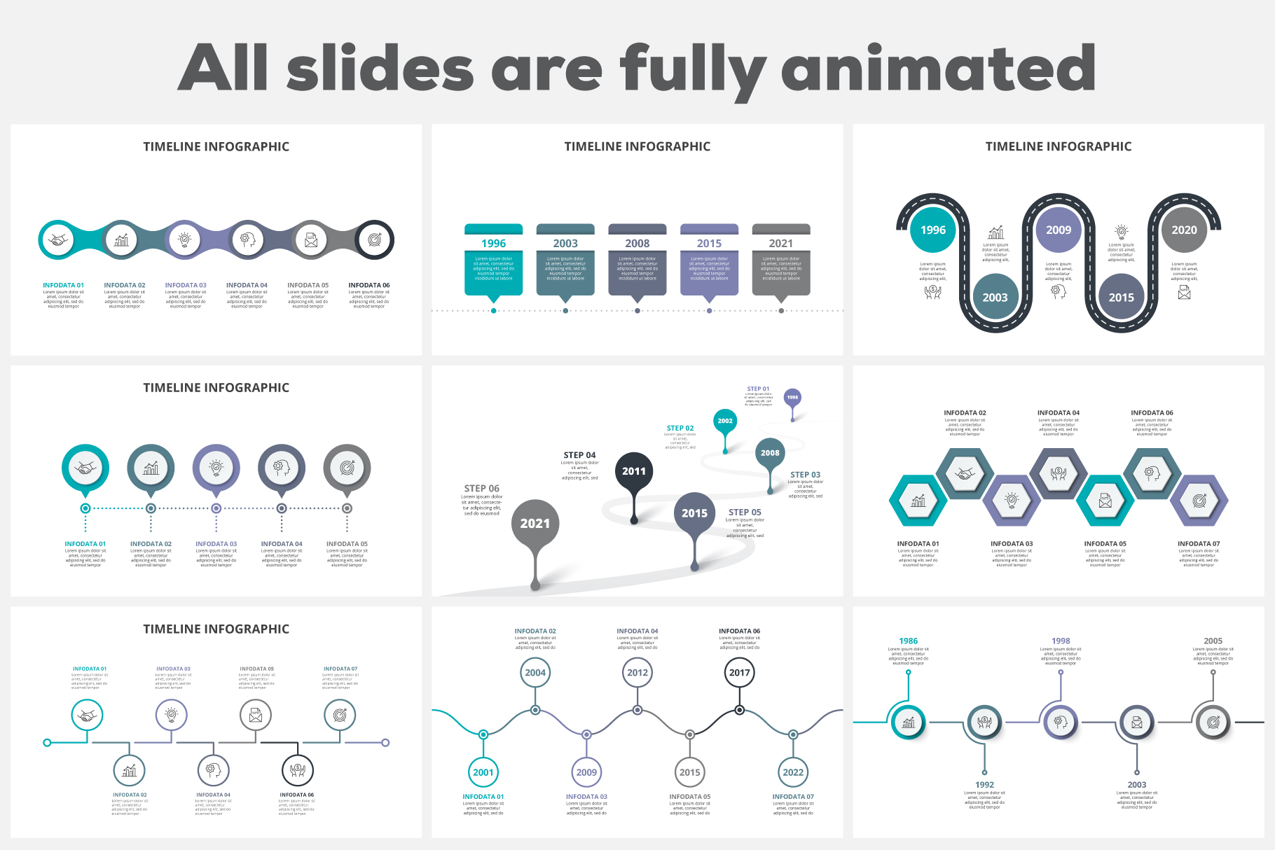Timelines Animated Infographics example image 3
