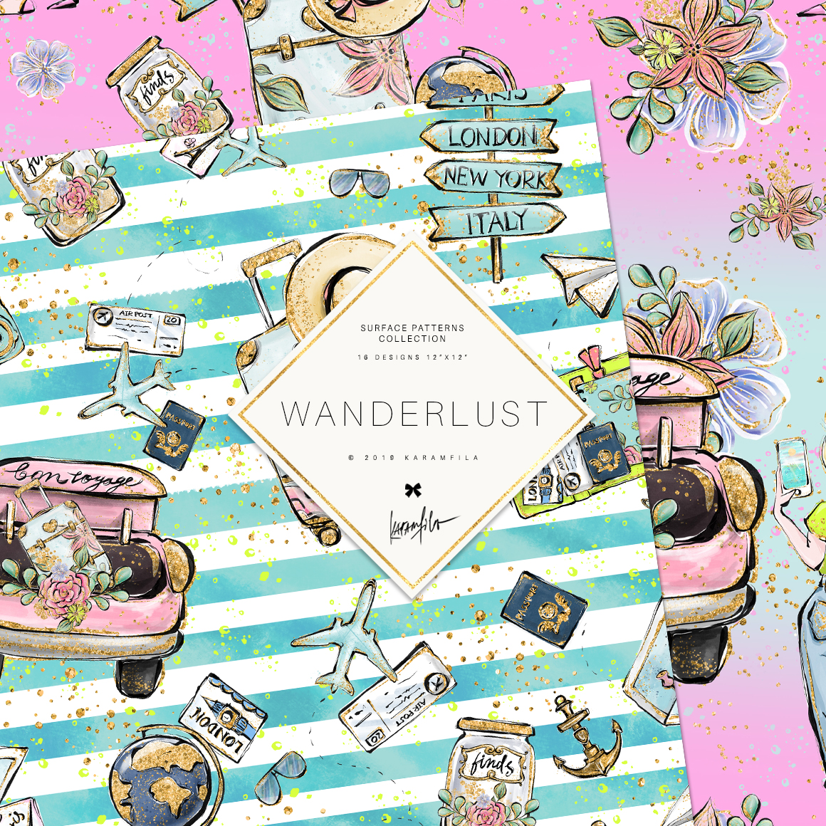Wanderlust Patterns example image 5
