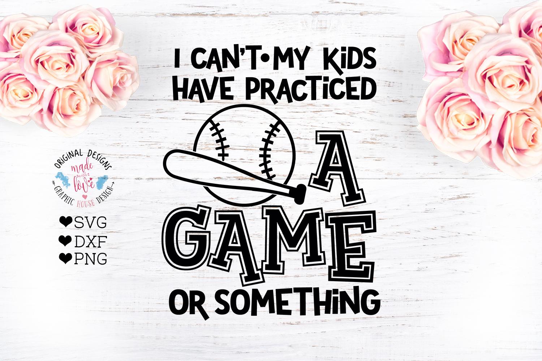 Baseball Mom Funny Cut File example image 2