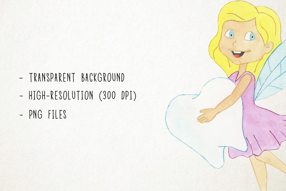 Tooth Fairy Clipart, Teeth Clipart, Tooth Fairy Clip Art example image 3