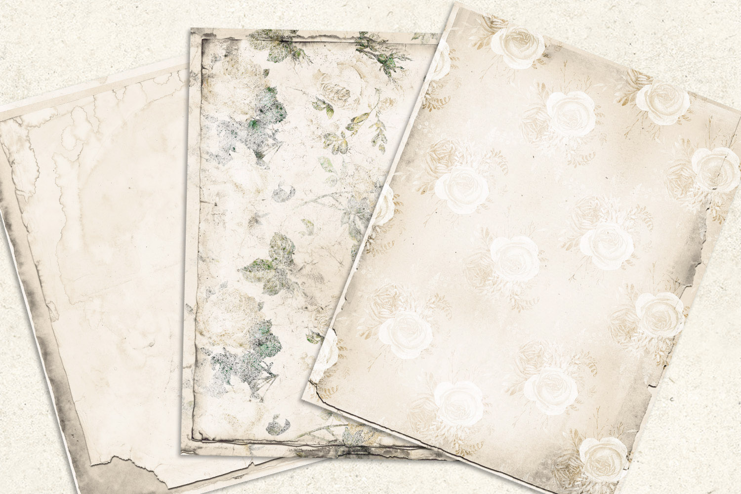 Ivory Shabby Notebook Paper example image 2