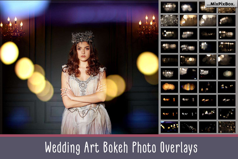 Wedding Art Bokeh Photo Overlays example image 1
