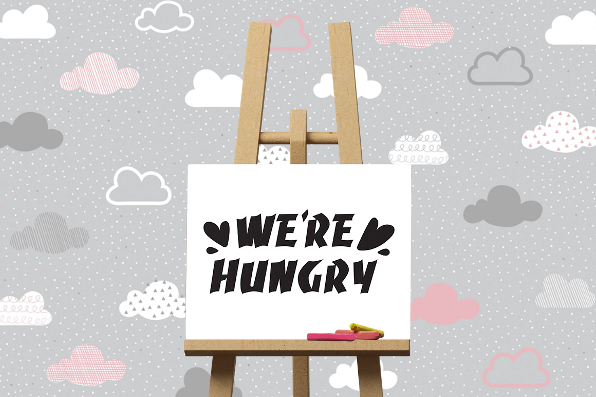Pregnancy Announcement SVG Cut Files - We're hungry example image 3