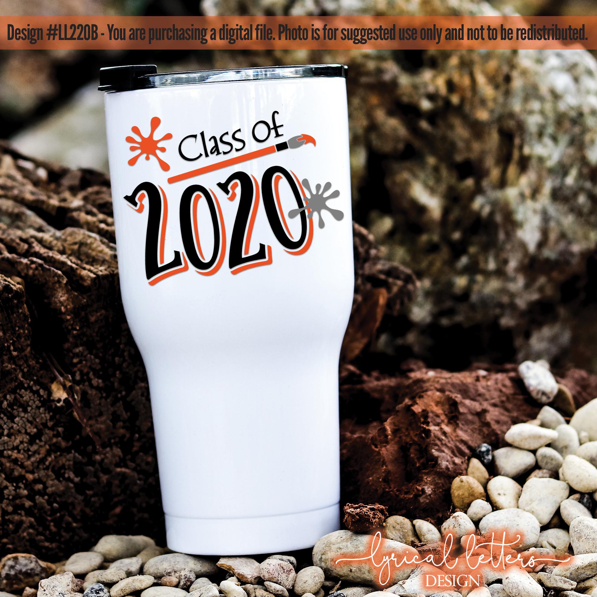 Class of 2020 Graduation Artist Art Paint Brush SVG LL220B example image 2