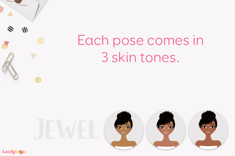 Woman candles character clip art L126 Jewel example image 2
