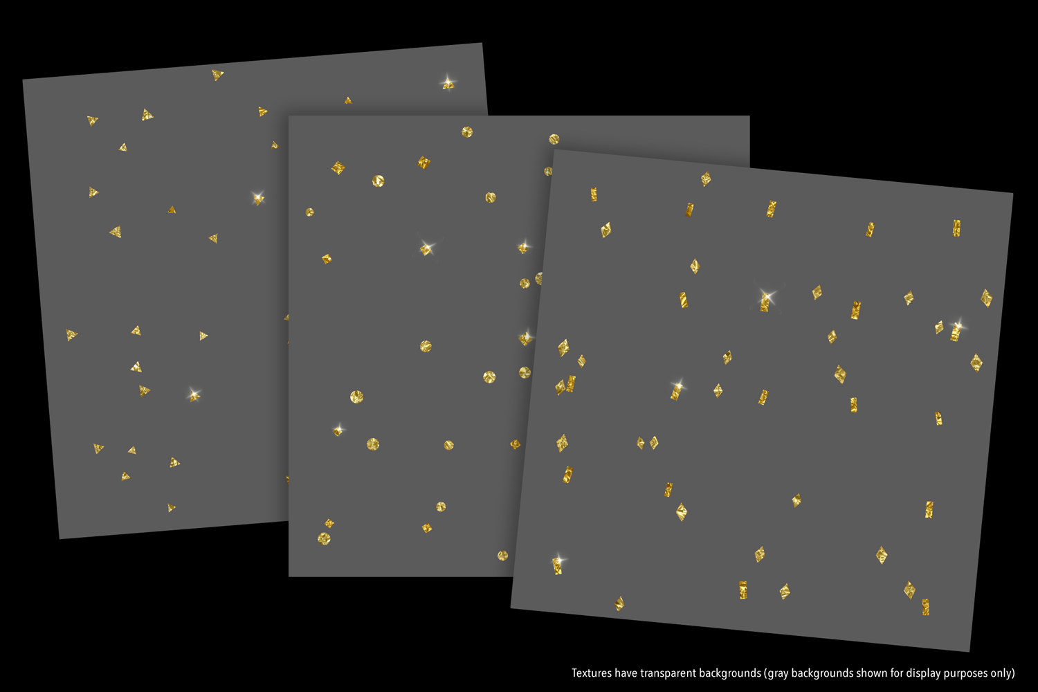Sparkly Gold Confetti (Sparse) - transparent backgrounds example image 6