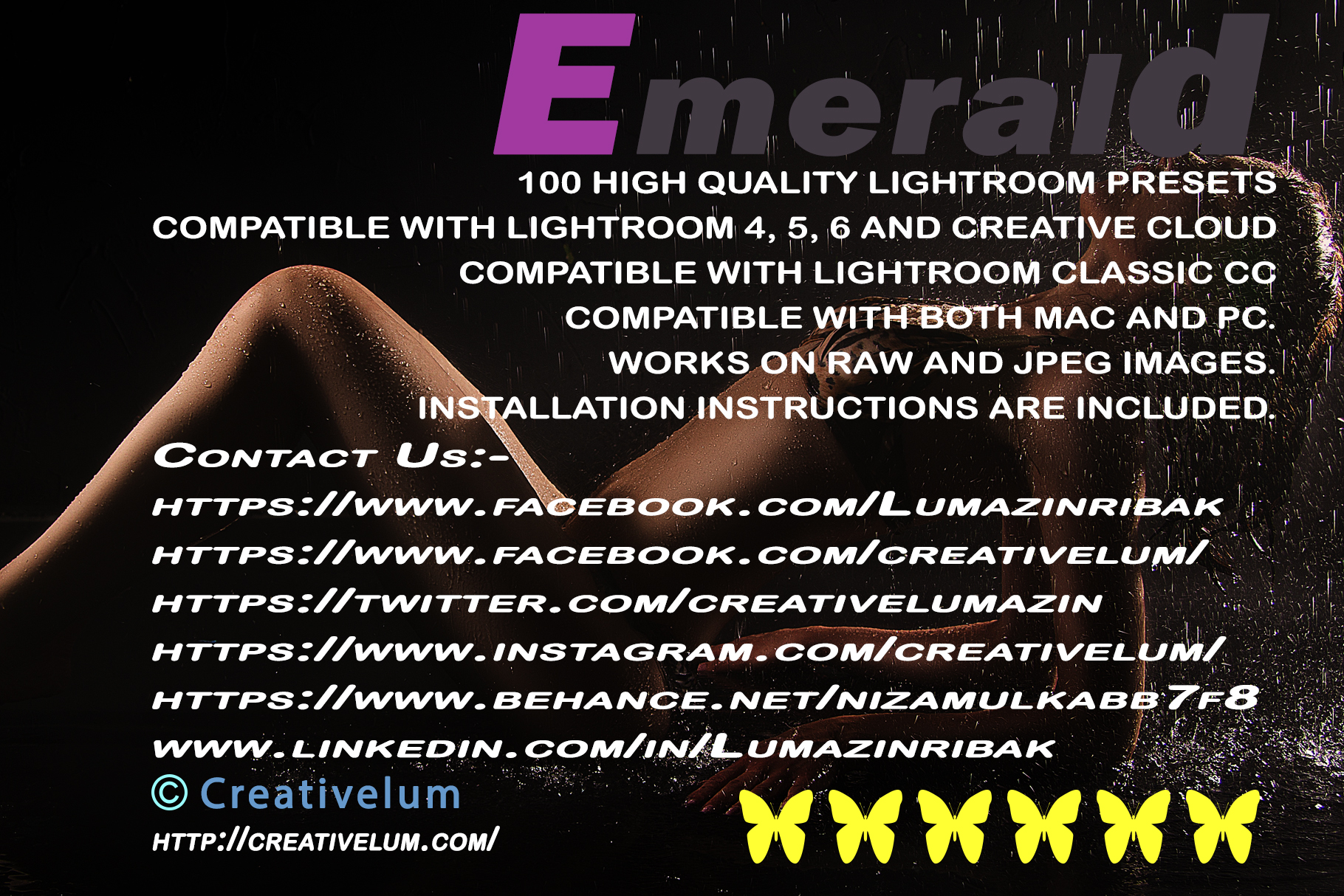 Emerald LIGHTROOM PRESETS example image 24