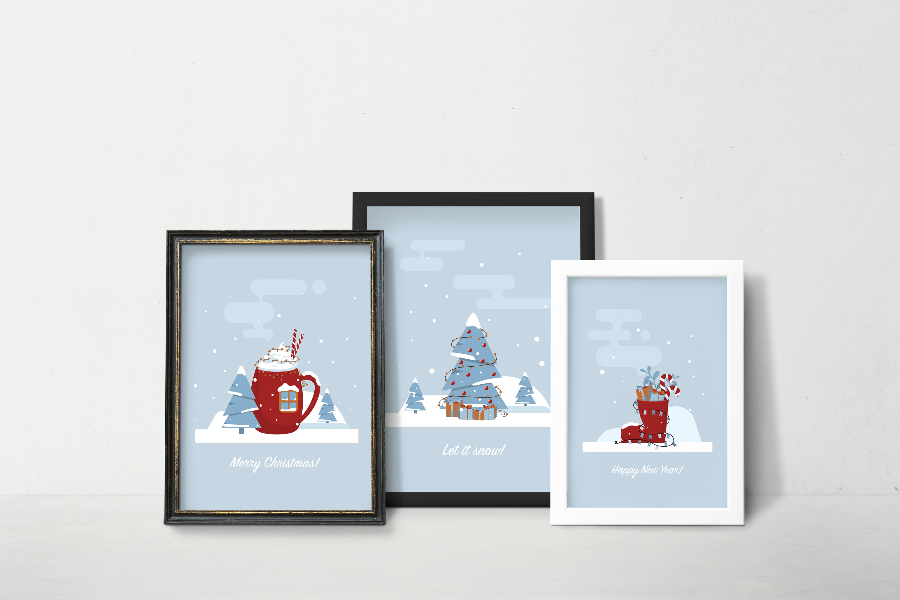 Christmas greetings cards example image 4