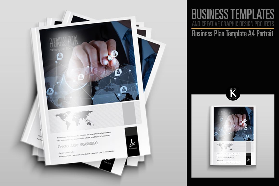 Business Plan Template - A4 Portrait example image 1