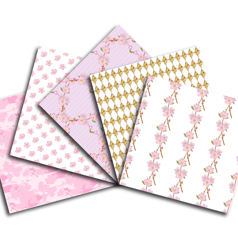 Cherry Blossom Digital Paper example image 3
