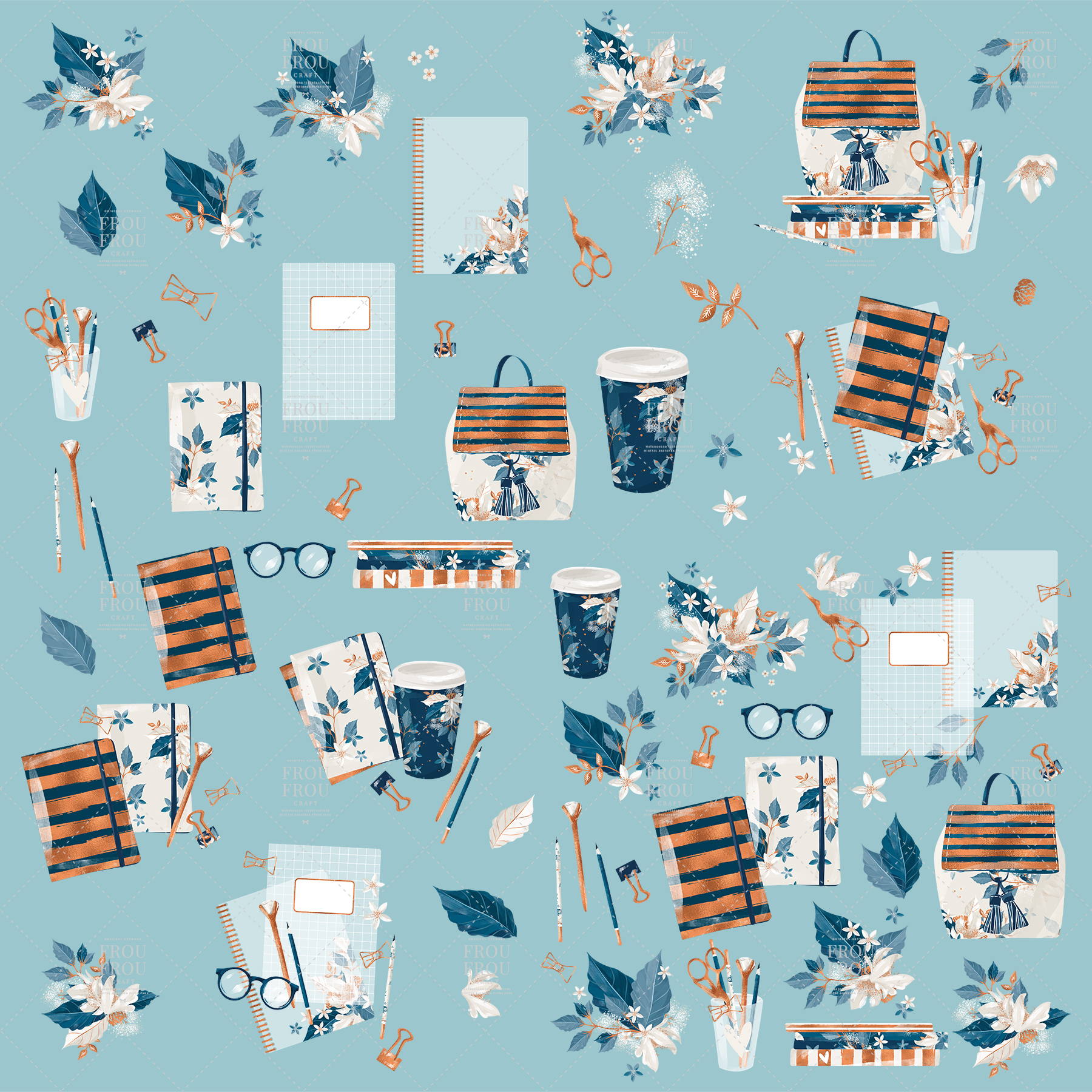 Planner Stationery School Fall Clip Art example image 9