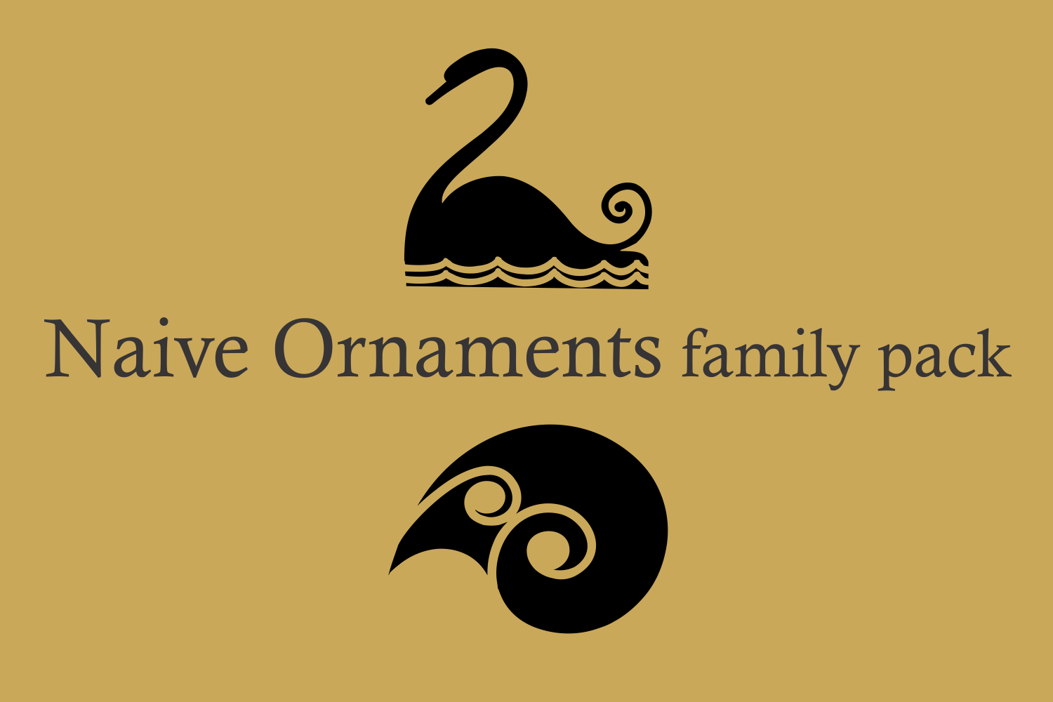 Naive Ornaments Family Pack (seven fonts) example image 2