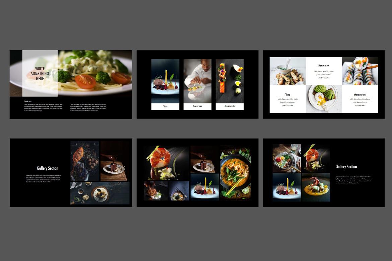Core - Food Google Slides Dark example image 6