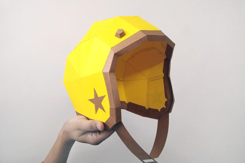 DIY Vintage Helmet - 3d papercrafts example image 2