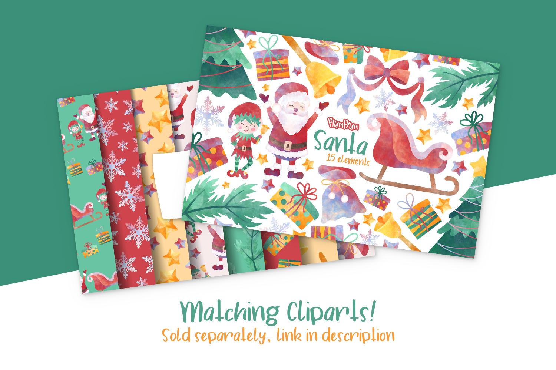 Santa Digital Papers example image 3