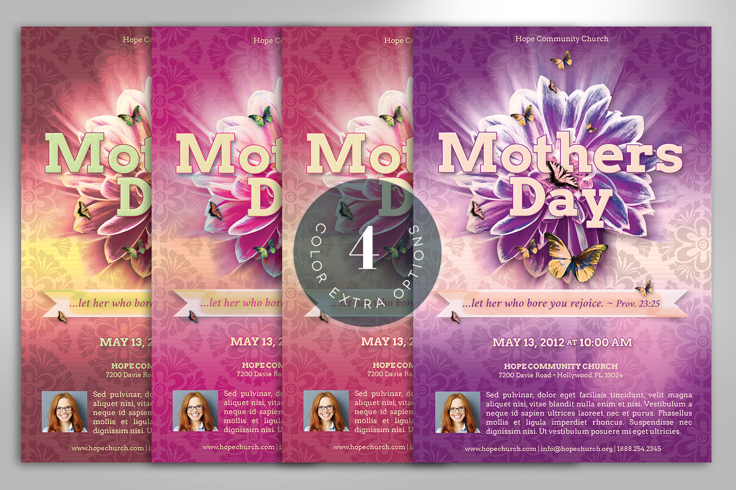 Mothers Day Flyer Photoshop Template example image 10