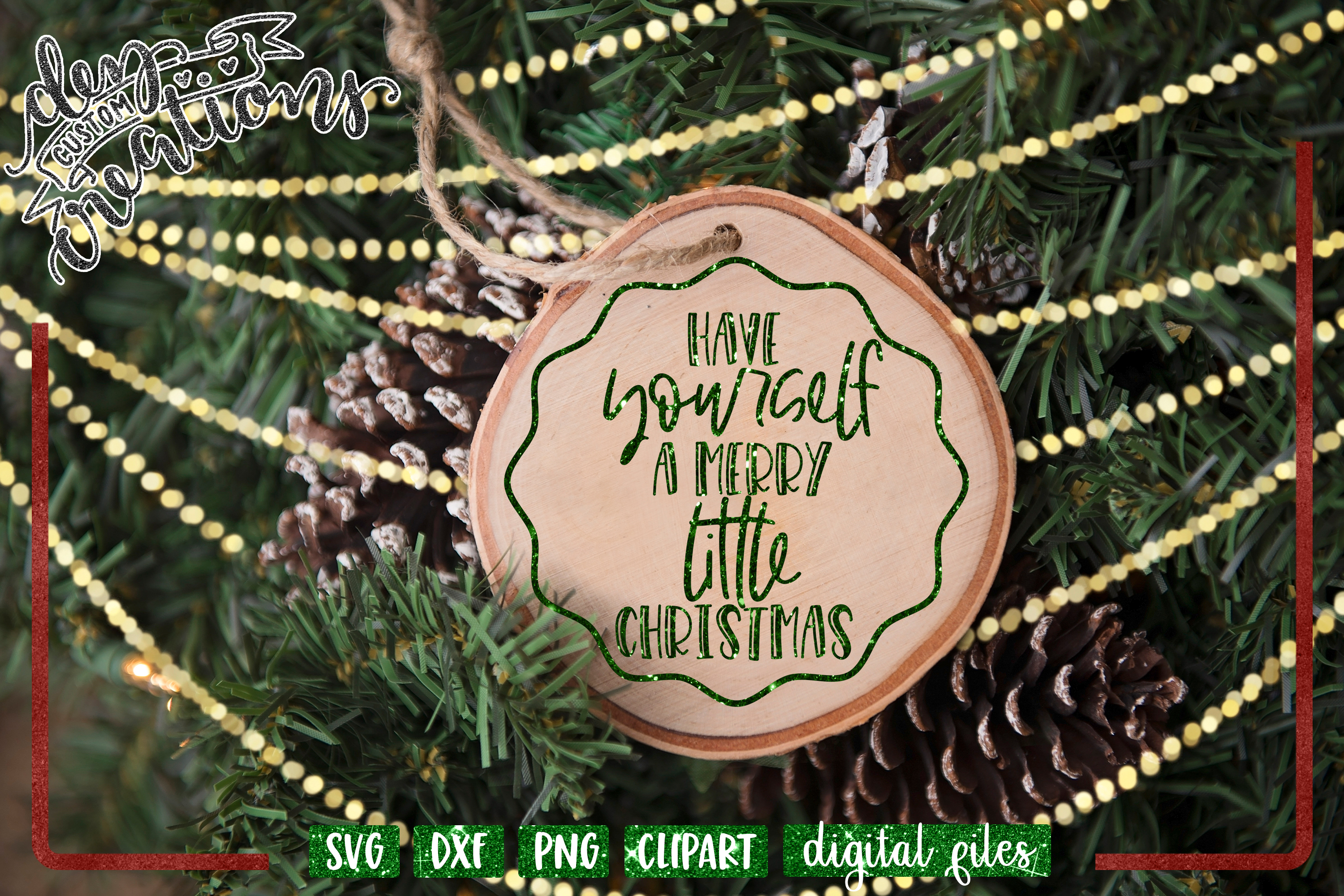 Have Yourself a Merry Little Christmas - SVG DXF PNG File example image 2