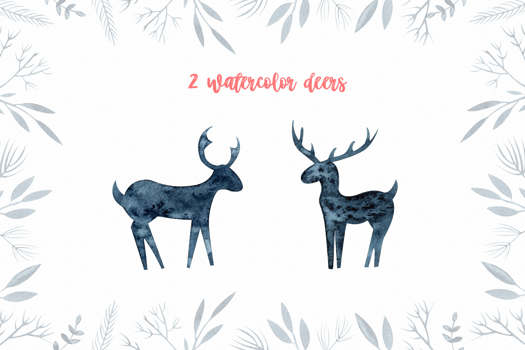Winter Scandinavian Elfs, Nordic decor clipart watercolor example image 7