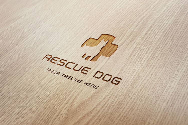 Dog in Plus Sign Logo example image 3