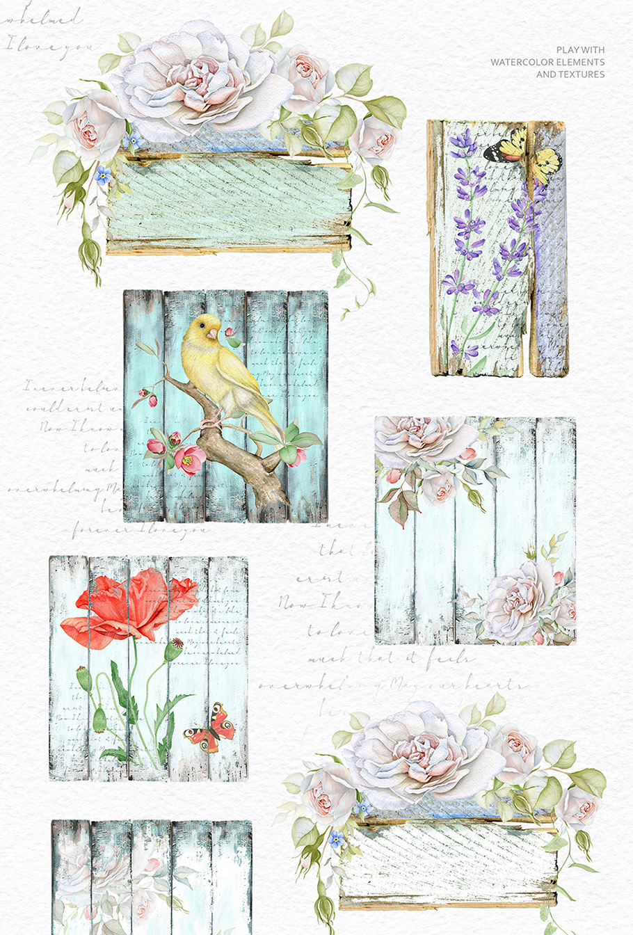 15%OFF. Watercolor Floral Collection example image 13
