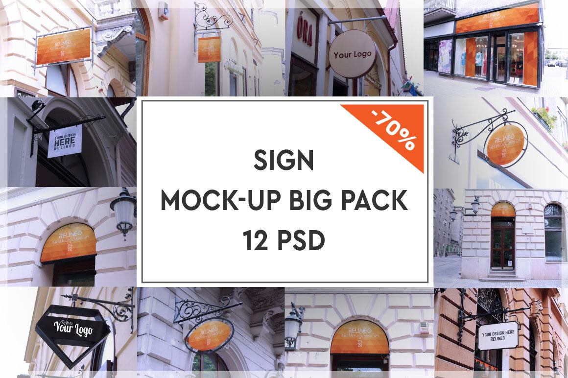 Shop Sign Mock-up Big Pack #1 example image 1
