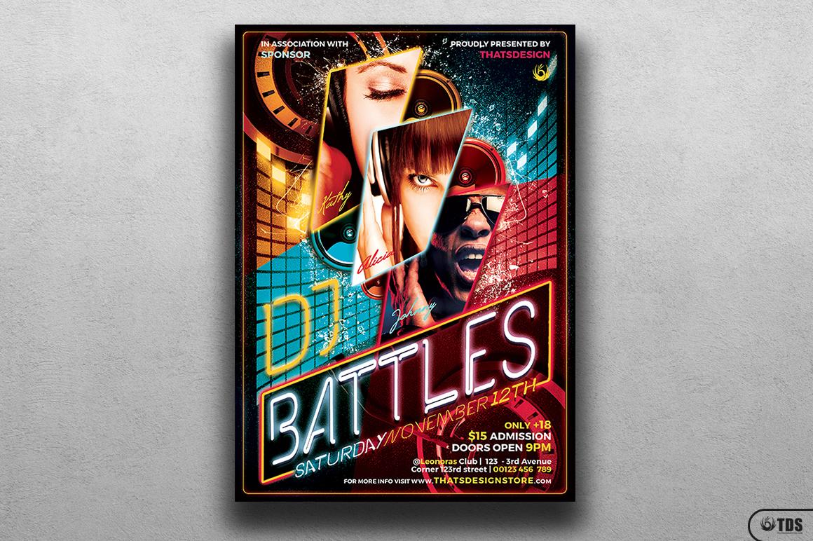 DJ Battle Flyer Template V1 example image 1