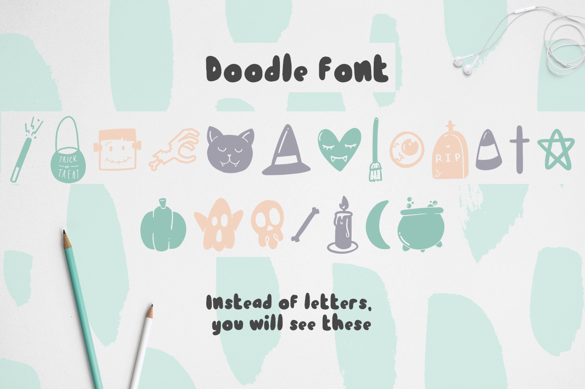 Dark font patterns, brushes and more! example image 5