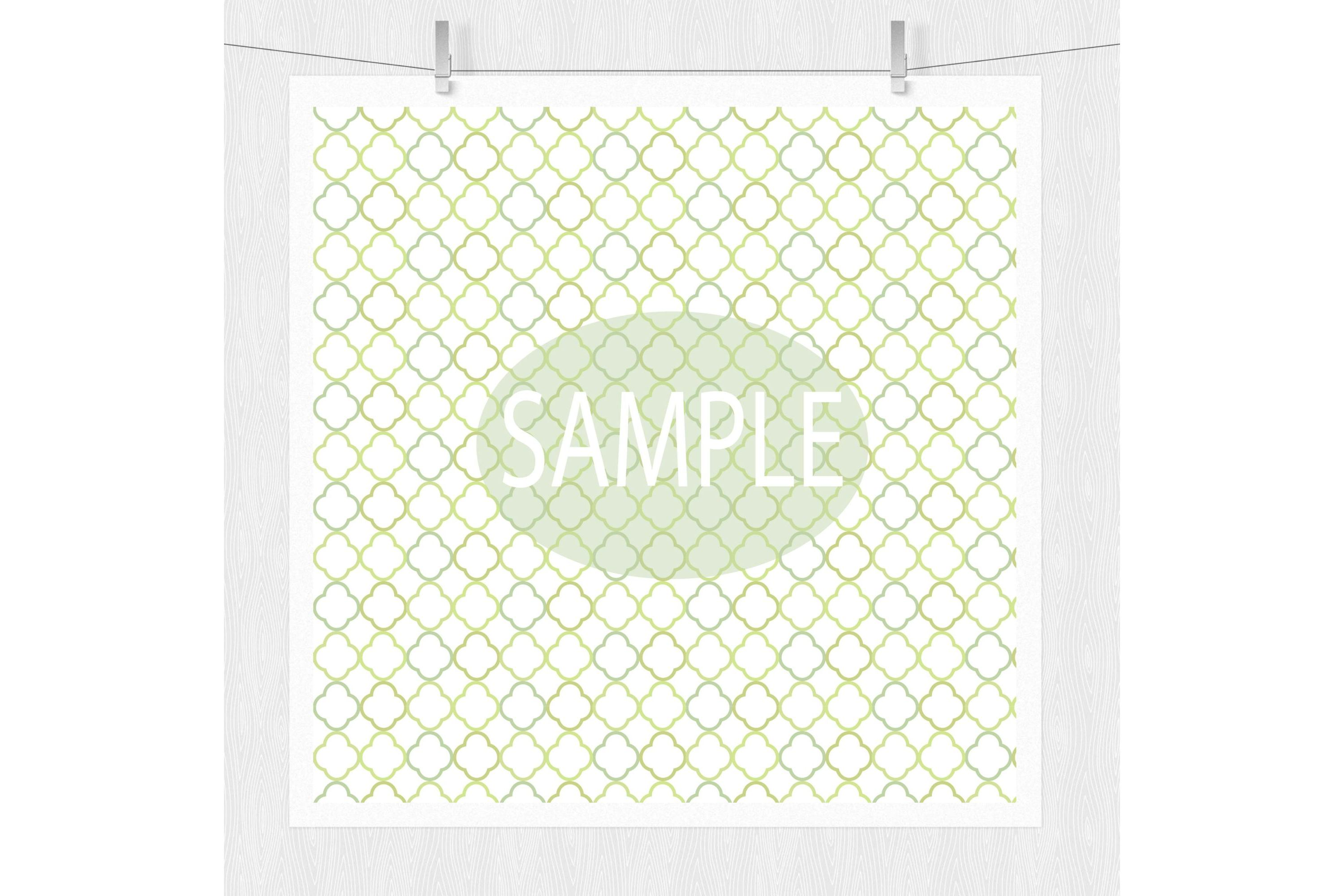 Lime Green Patterned Digital Paper example image 5