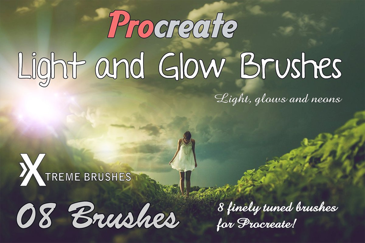 Procreate Light & Glow Brushes example image 1