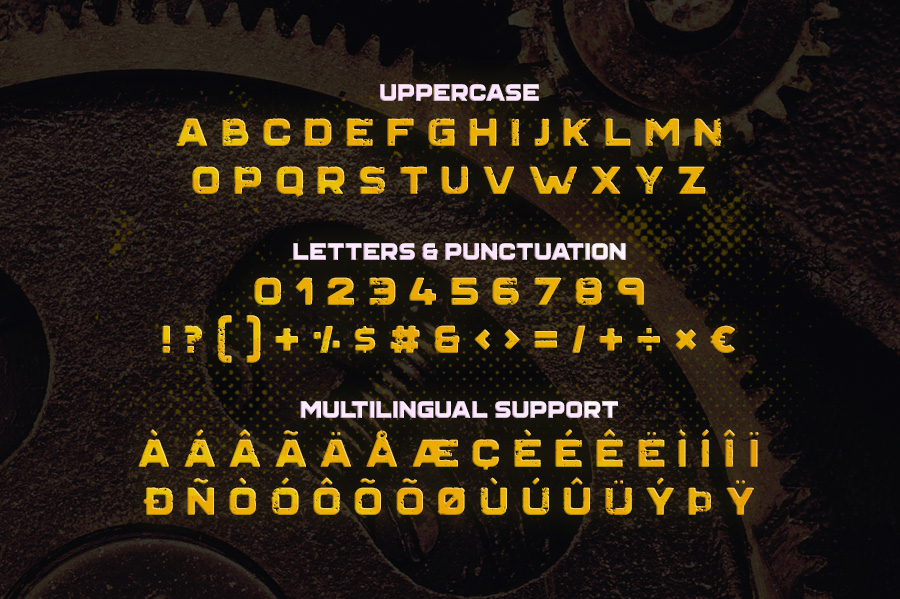 Grind Typeface example image 4