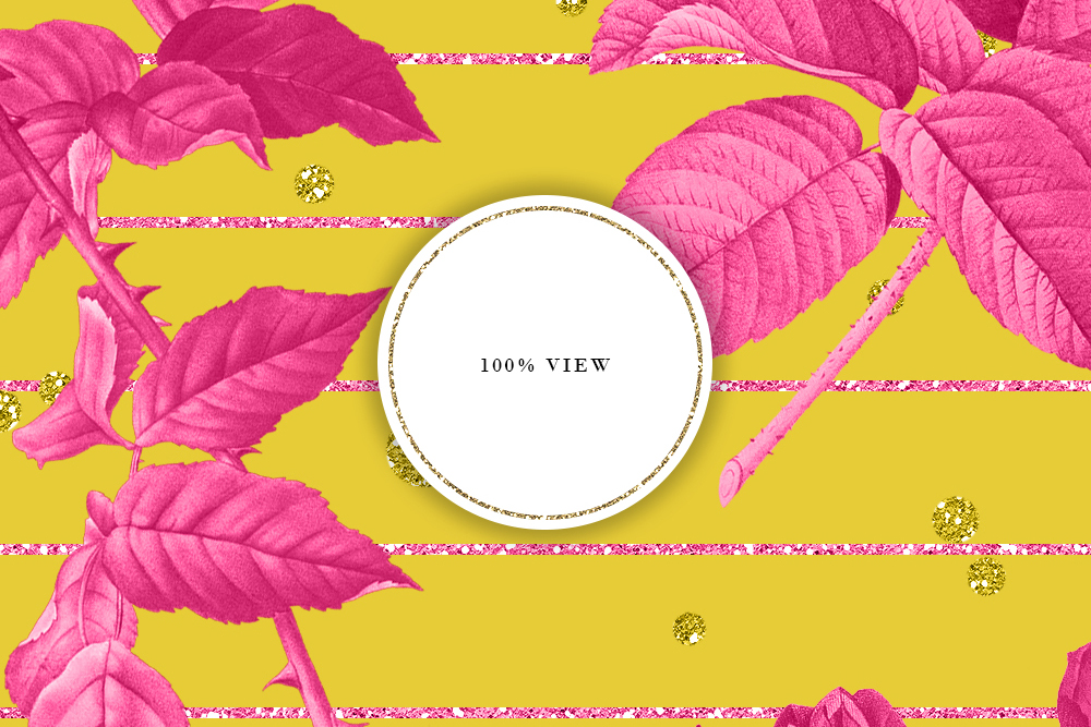 Bright Yellow & Pink Vintage Floral Seamless Patterns example image 6