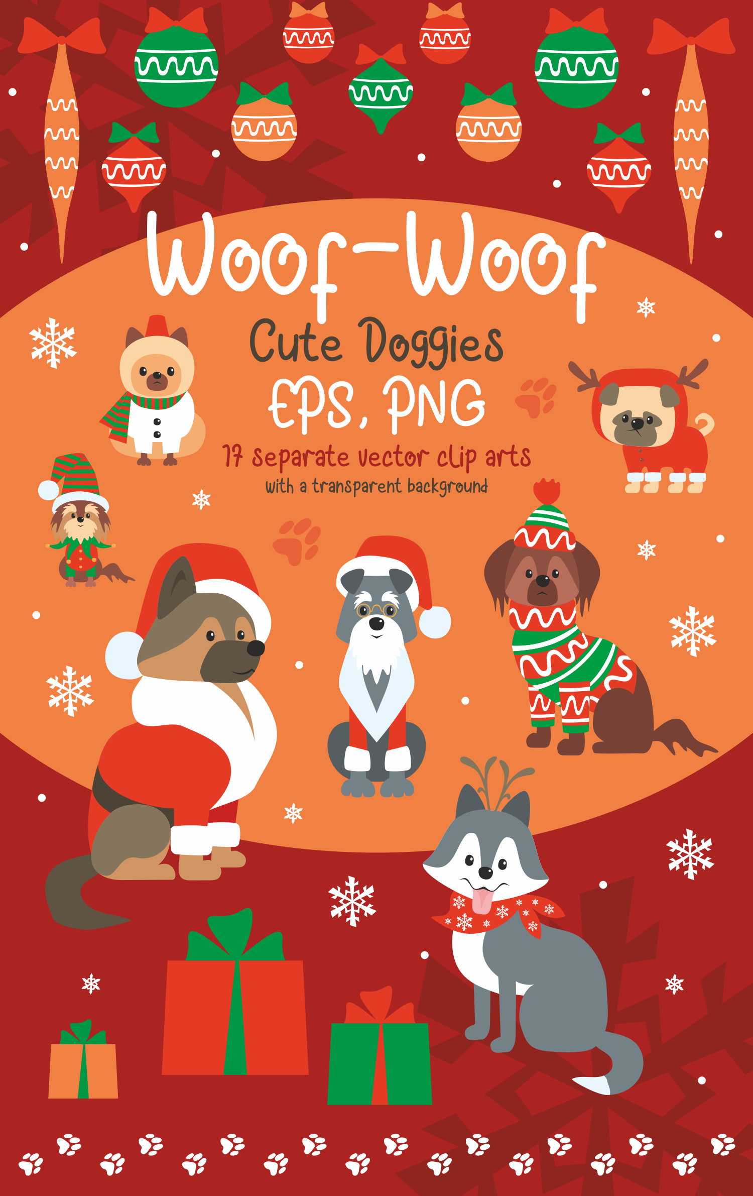 Woof. Cute doggies in Christmas costumes. example image 10