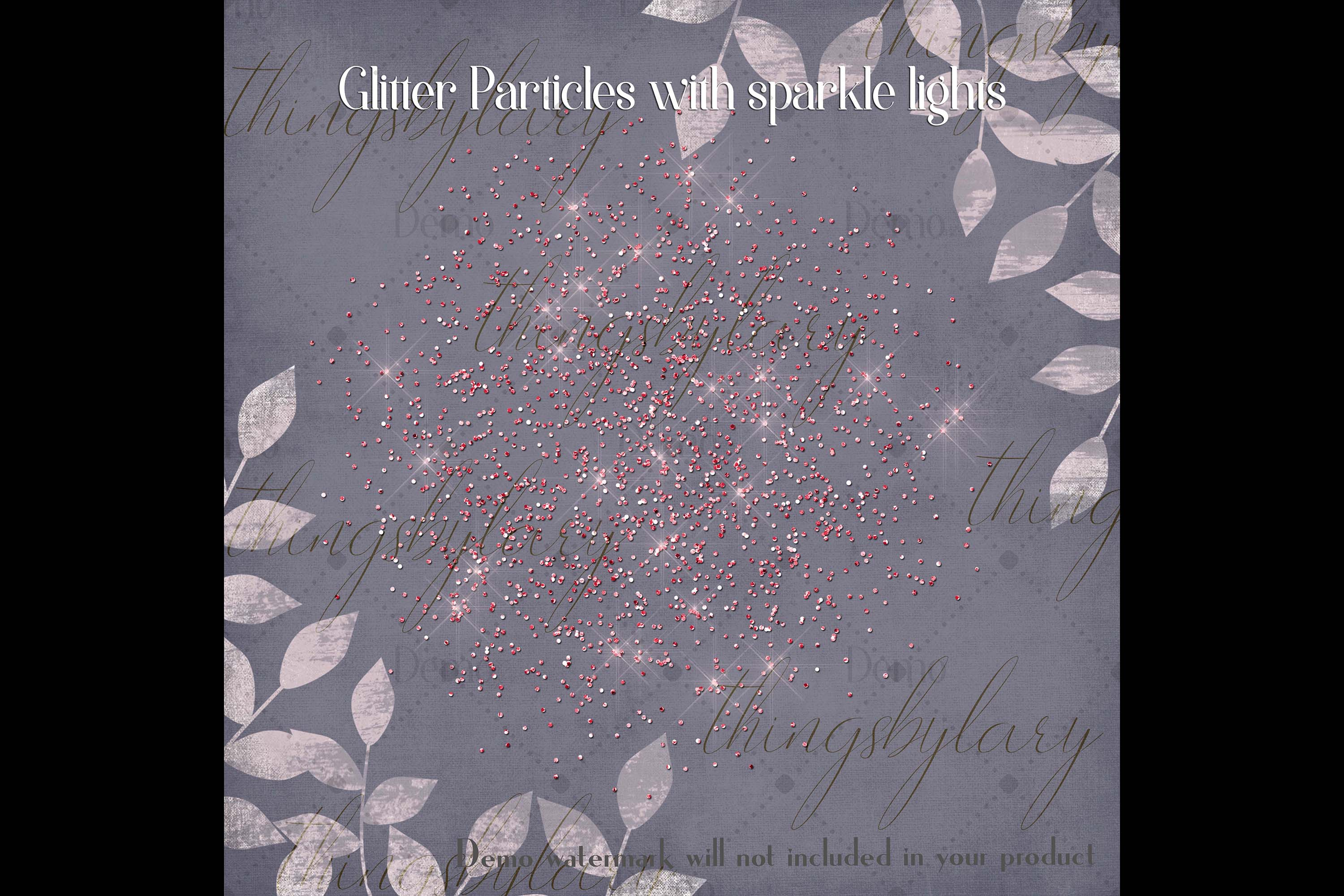 32 Glitter Particles Overlay Images Glitter Dust Confetti example image 4