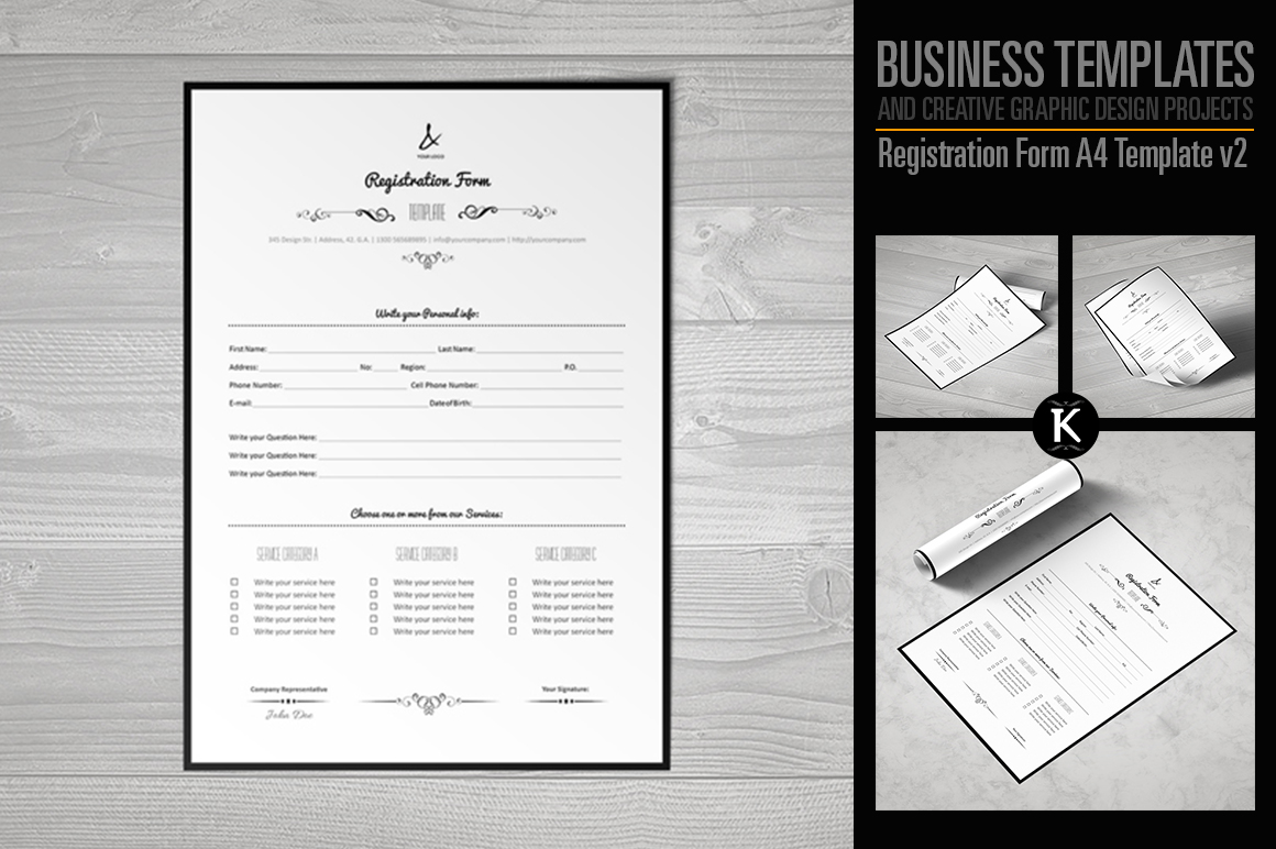 Registration Form Template v2 example image 1