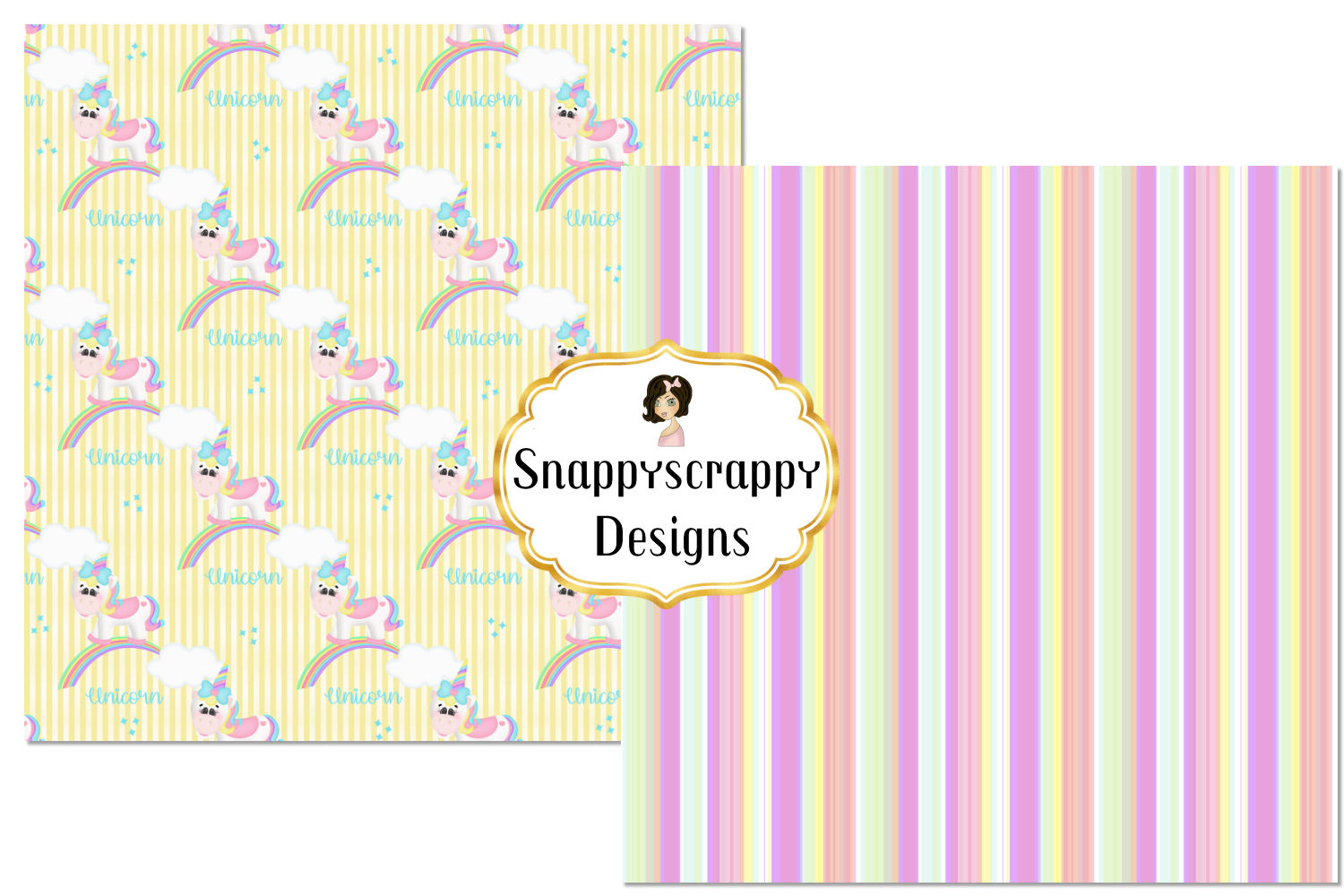 Unicorn Background Papers example image 2