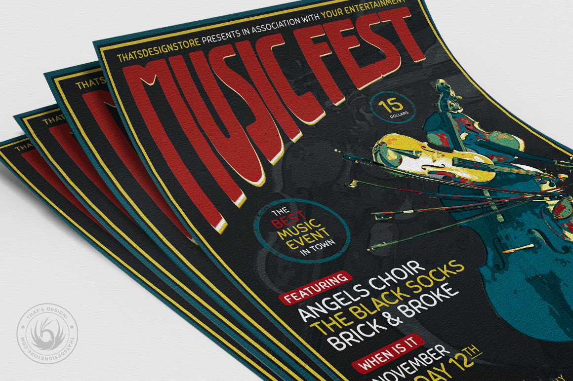 Music Festival Flyer Template V6 example image 5