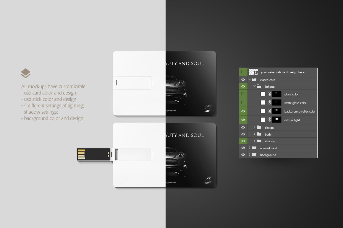 Wafer USB Wallet Card Mockup example image 7