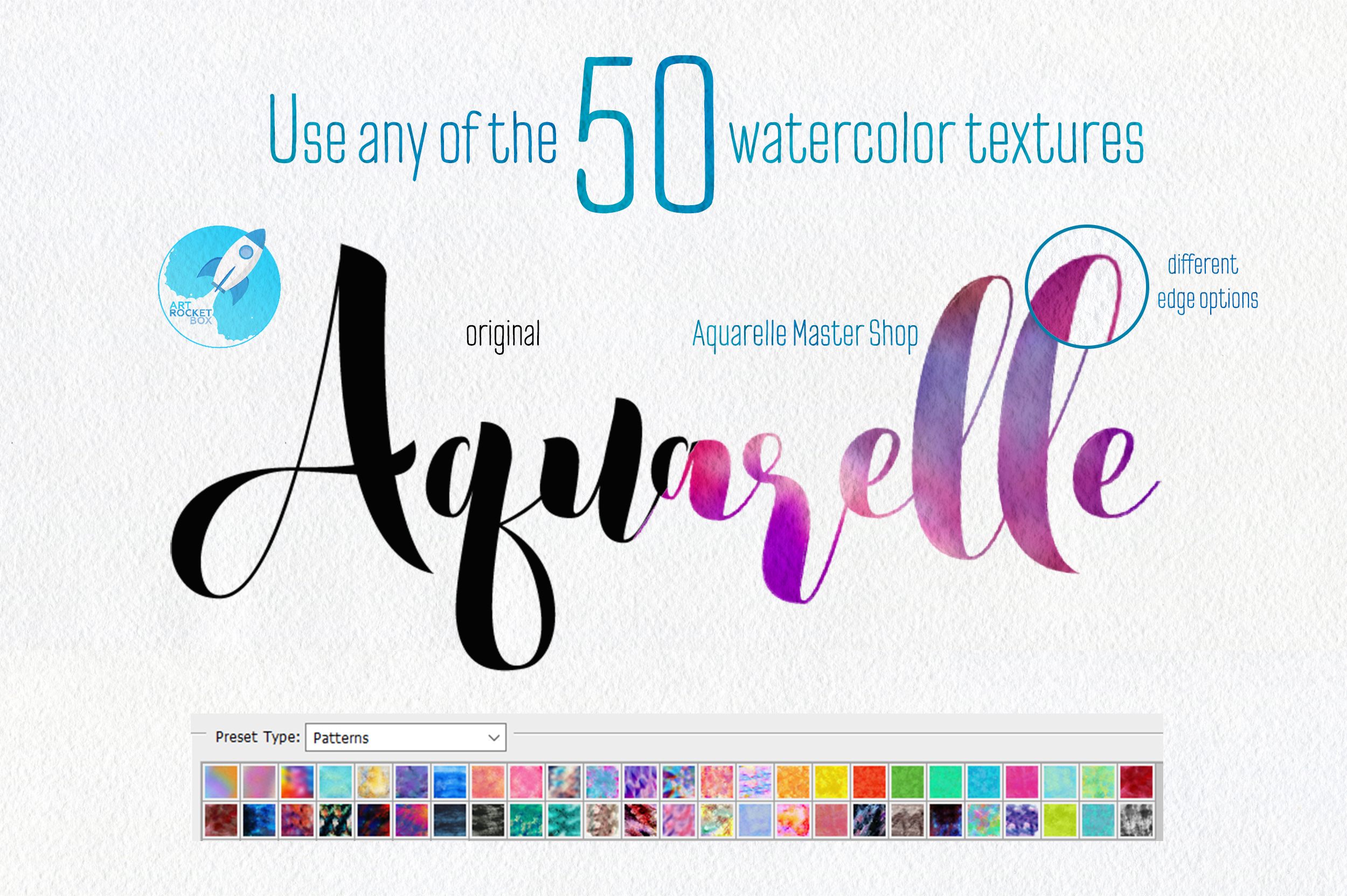 Aquarelle Master Shop Photoshop Action Kit example image 2