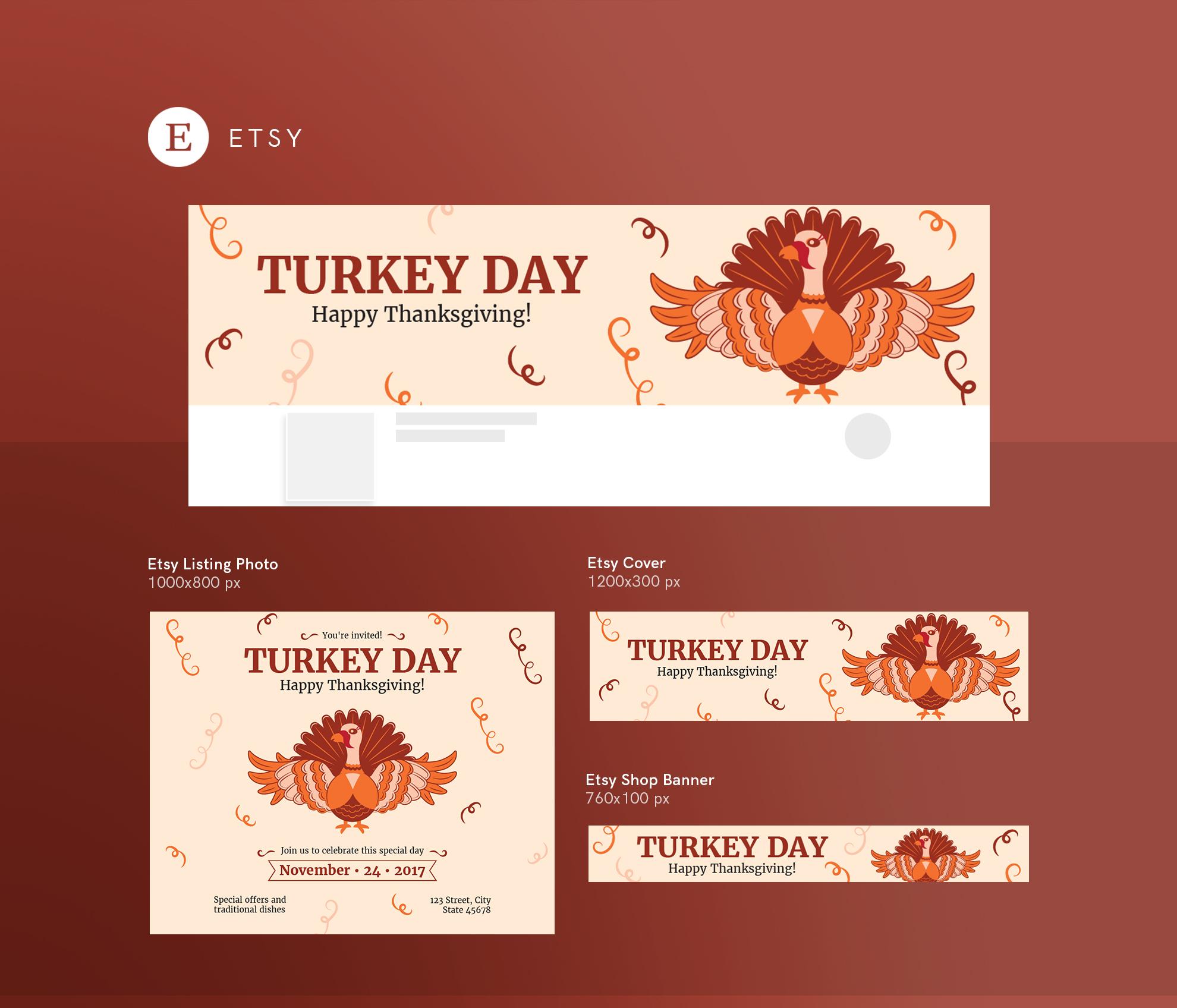 Thanksgiving Celebration Design Templates Bundle example image 14