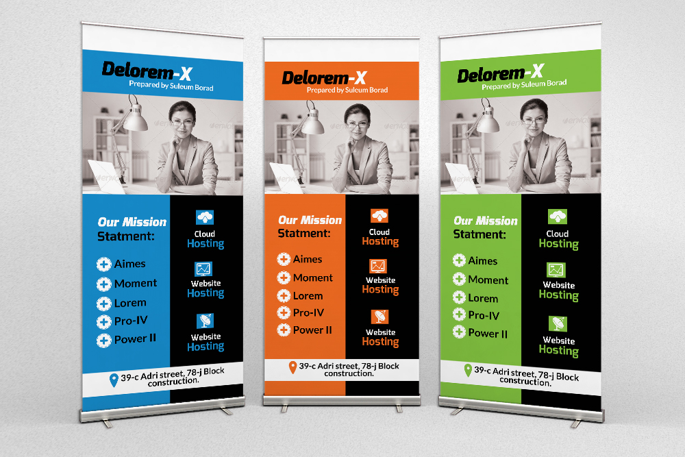 Business Finance Provider Firm Roll Up Banners example image 1