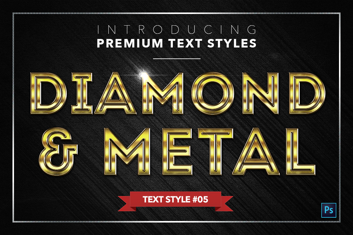 Diamond & Metal #2 - 16 Text Styles example image 6