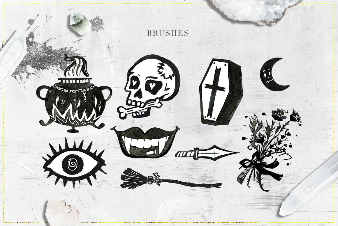 75 Witchcraft Photoshop Brushes example image 3
