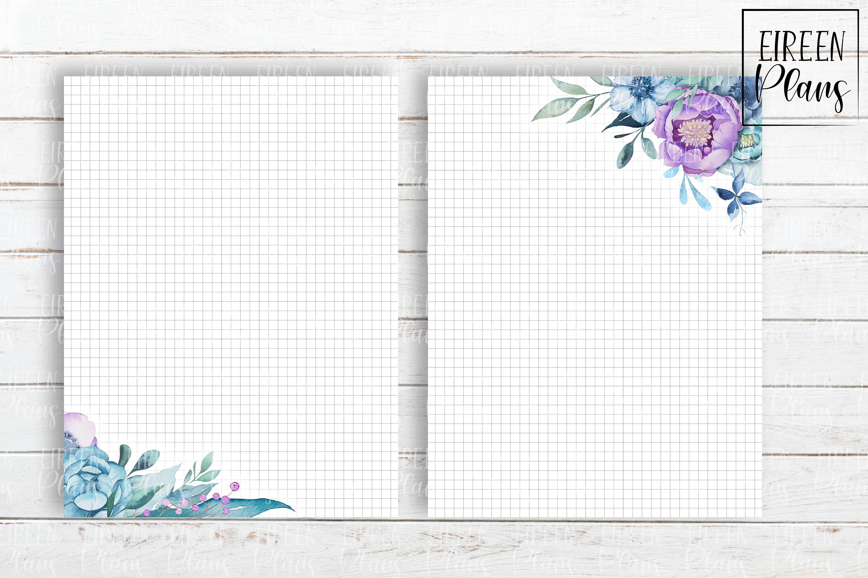Set of floral notes for the Classic Happy Planner example image 4